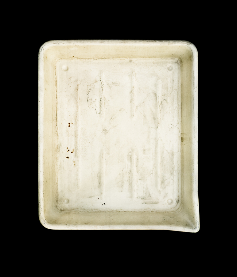 The developer tray of photographer Aaron Siskind.