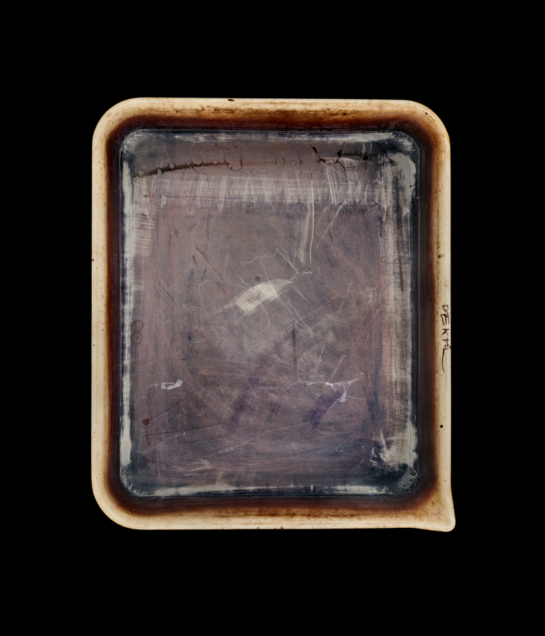 The developer tray of photographer Emmet Gowin.