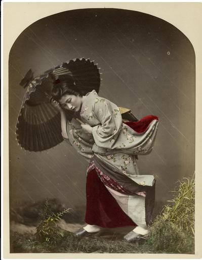 Kusakabe Kimbei, Kusakabe Kimbei, Wind Costume, ca. 1870-1890, albumen print.