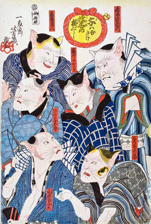 Utagawa Yushiiku, The Story of Otomi and Yosoburo 1860.